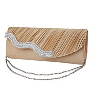 Women Bags Silk Evening Bag Acrylic Jewels for Event/Party All Seasons Gold White Black Beige Dark Gray