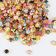500PCS Colorful Pearl Metal Lipping Nail Art Decorations