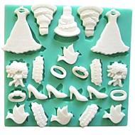 billige Bakeredskap-Bakeware verktøy Silikon Økovennlig / 3D / GDS Kake / Til Småkake / Sjokolade Bakeform 1pc