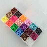 περίπου 5400pcs 18 το μικτό χρώμα 5 χιλιοστά χάντρες χάντρες ασφάλεια που HAMA diy παζλ eva υλικό safty για τα παιδιά (σύνολο β, 18 *