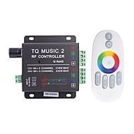 billige Lysbrytere-6a 3-kanals TQ rf musikk RGB LED lydkontroller med multifunksjon fjernkontroll for RGB LED strip lampe (DC 12-24V)
