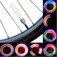 billige Sykkellykter og reflekser-Sykkellykter hjul lys Blinkende ventillys LED Sykling batterier Lumens Batteri Sykling