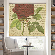 Retro Words Page With Rose Blossoms Background Roller Shade