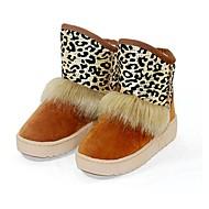 Χαμηλού Κόστους Μοδάτες Μπότες-Γυναικεία Παπούτσια Φθινόπωρο / Χειμώνας Ανατομικό Επίπεδο Τακούνι 15.24-20.32cm / Μποτίνια Άνιμαλ Πριντ για Καφέ / μπεζ / Φούξια