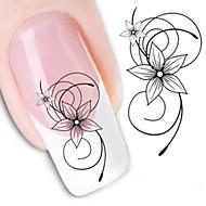 1 Nail Art matrica Víz Transfer matrica Virág Absztrakt smink Kozmetika Nail Art Design