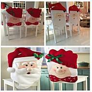 2pcs / set mr& mrs santa claus keukentafel stoelbekleding 72 * 44cm 52 * 43cm