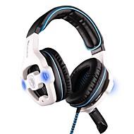 bilgisayar için mikrofon ile kulak fonksiyonlu stereo üzerinde sades sa-903 kulaklık usb