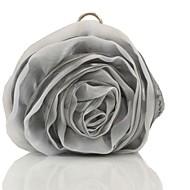 Χαμηλού Κόστους Buy 2 Get 20% Off-Γυναικεία Τσάντες Μετάξι Βραδινή τσάντα Λουλούδι Μαύρο Γκρι / Ροζ / Κρύσταλλο