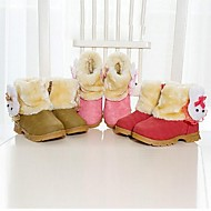 Jenter-Semsket fuskelær-Lav hæl-Komfort Snøstøvler-Støvler-Fritid-Brun Rosa Rød