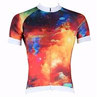 ILPALADINO Camisa para Ciclismo Homens Manga Curta Moto Blusas Secagem Rápida Resistente Raios Ultravioleta Respirável 100% Poliéster