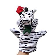 Hest Zebra Dyr Fingerdukker Hånddukker Hånddukke Tegneserie Tekstil Plysset Nuttet Smuk Originale Pige Drenge Gave