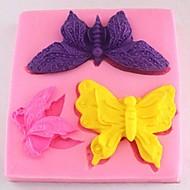 borboleta fondant ferramentas bolo de chocolate bolo de silicone molde de decoração, l8cm * w8.5cm * h1.4cm