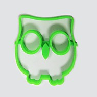 baratos -Cartoon Owl Shape Egg Frying Ring, Silicone Material, Random Colors
