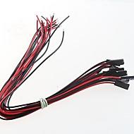 2p enkelt hoved dupont plug wire line længde dupont linje 25 cm (20pcs)