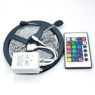 5m 5050 rgb 150 leds e controle remoto 24 teclas led strips light