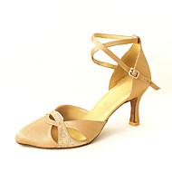 billige Moderne sko-Dame Moderne sko / Ballett Sateng Høye hæler Rhinsten / Spenne Kan spesialtilpasses Dansesko Bronse / Rosa / Blå / Lær