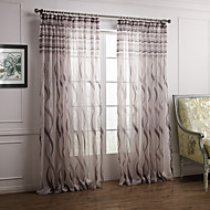 Two Panels Curtain Baroque Bedroom Polyester Material Sheer Curtains Shades Home Decoration For Window