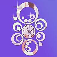 """20 """"hのモダンなスタイルのラウンドサークル3D DIYのアクリルミラー壁時計"""