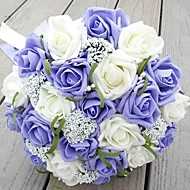"""Wedding Flowers Round Roses Bouquets Wedding 9.84""""(Approx.25cm)"""