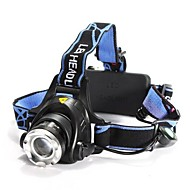 LS059 Headlamps Headlight LED 1200 lm 3 Mode Cree XM-L T6 Adjustable Focus Impact Resistant Rechargeable Waterproof Zoomable for