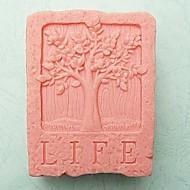 Molho de fondant em forma de árvore de vida, Bolo de silicone, molde de bolacha, ferramenta de cozimento