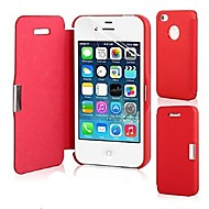 billiga Mobil cases & Skärmskydd-fodral Till iPhone 5 / Apple iPhone 5-fodral Lucka / Magnet Fodral Enfärgad Hårt PU läder för iPhone SE / 5s / iPhone 5
