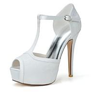 ieftine Pantofi Nuntă Înalți-Pentru femei Pantofi Primăvară / Vară T-Curea Toc Stilat Alb / Roz / Albastru / Nuntă / Party & Seară