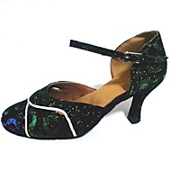 billige Kustomiserte dansesko-Kan spesialtilpasses-Dame-Dansesko-Moderne-Glimtende Glitter-Kustomisert hæl-Grønn