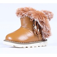 cheap Kids' High-Tops-Girls' Shoes Faux Fur / Calf Hair Winter Comfort / Snow Boots Boots Lace-up / Magic Tape / Hook & Loop for Tan / Booties / Ankle Boots