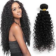 24Inches Brazilian Curly Virgin Hair Unprocessed Brazilian Kinky Curly Virgin Hair Naturl Black 1pcs/lot