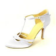 baratos Sapatilhas de Dança-Mulheres Sapatos de Dança Moderna / Dança de Salão Cetim Salto Presilha Salto Personalizado Personalizável Sapatos de Dança Amarelo /
