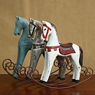 """abordables -Rétro 9 cheval à bascule en bois ornement """"maison de décoration de style nordique"""