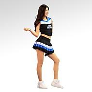 billige Udsalg-Cheerleader kostumer Dragter Dame Træning Ydeevne Bomuld Polyester Uden ærmer Naturlig