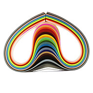 120pcs 3mmx53cm quilling χαρτί (τεμ X5 24 έγχρωμες / χρώμα) diy σκάφος τέχνη διακόσμησης