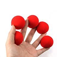kouzelné rekvizity - červená houba kuličky (5 ks)