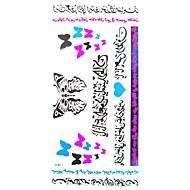 タトゥーステッカー ロマンチックシリーズ Waterproof 子供用 女性 Girl 男性 大人 Boy 青少年 フラッシュタトゥー 一時的な入れ墨