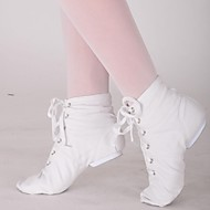 billige Jazz-sko-Kan ikke spesialtilpasses-Dame-Dansesko-Jazz Ballett-Lerret-Flat hæl-Svart Rød Hvitt
