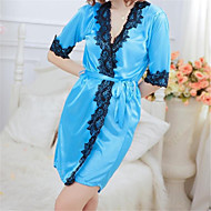 Women's Lace Plus Size Sexy Lace Lingerie / Robes / Ultra Sexy Nightwear - Print Patchwork