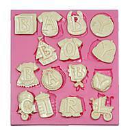 Baby breve silikoneformen silikone kage udsmykning form til fondant fimo chokolade slik
