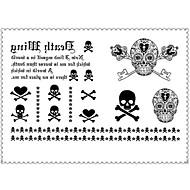 billiga Temporära tatueringar-1 pcs Tatueringsklistermärken tillfälliga tatueringar Meddelande Serie / Tecknad serie Speciell design / Engångsvara Body art Kropp / arm / Ben / Tattoo Sticker