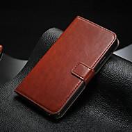 Varten Samsung Galaxy Note Korttikotelo / Tuella / Flip Etui Kokonaan peittävä Etui Yksivärinen Tekonahka Samsung Note 5 / Note 4 / Note 3