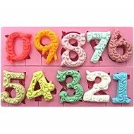 Large Size 0-9 Numbers Shaped Fondant Cake Chocolate Silicone Mold  SM-318
