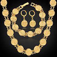 Mulheres Conjunto de jóias Pedaço de Platina, Chapeado Dourado senhoras Incluir Prata / Dourado Para Casamento Festa Diário Casual Esportes / Brincos / Colares / Bracelete