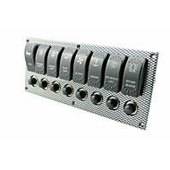 cheap 70%OFF-Waterproof Marine Boat Rocker Switch Panel 8 Gang Water Transfer LED Light Indicator Breaker