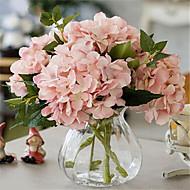 "billige Kunstige blomster-Gren Polyester Hortensiaer Bordblomst Kunstige blomster #(17.7""x5.91"")"