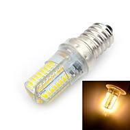 billige Kornpærer med LED-1pc 5 W 500-600 lm E14 LED-kornpærer T 64 LED perler SMD 3014 Varm hvit 220-240 V / 1 stk. / RoHs