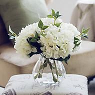 califórnia cinco hortênsias brancas flores artificiais com vaso