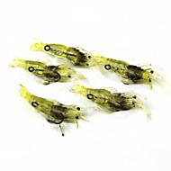 billiga Fiske-Mjukt bete Fiskbete Fiske krokar Fiske - 5 st Metall Silikon - Sjöfiske Kastfiske Färskvatten Fiske Trolling & Båt Fiske Generellt fiske