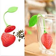 neue silikon erdbeere design tee blatt sieb 1 stück, küche werkzeug