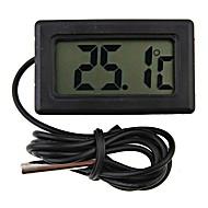 ミニデジタル冷蔵庫温度計黒液晶display4.8 * 2.85 * 1.5センチメートル
